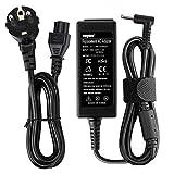 SUNYDEAL Cargador para Portátil HP 45W, Adaptador AC/Suministro de Cable de alimentación para HP Stream 11 13...