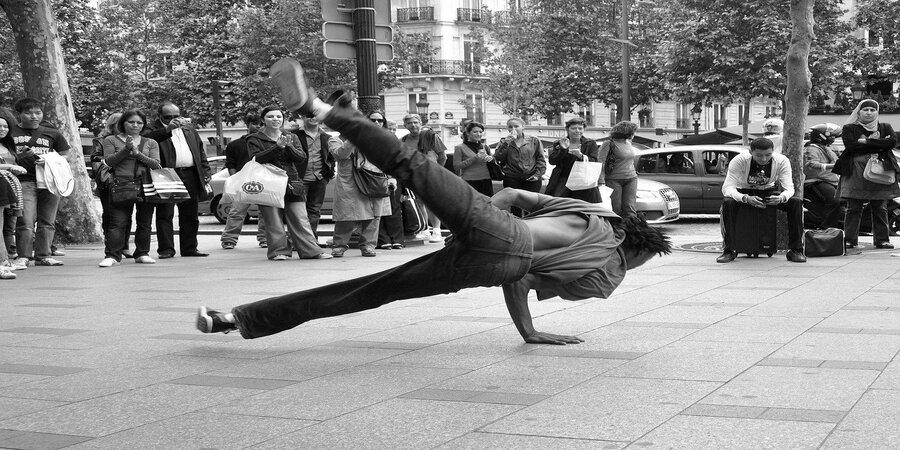 break dance en la calle