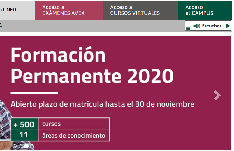 Acceso al Campus virtual UNED