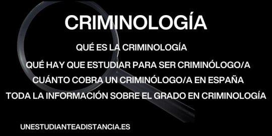 Grado en criminología, prcios, plan de estudios, libros...