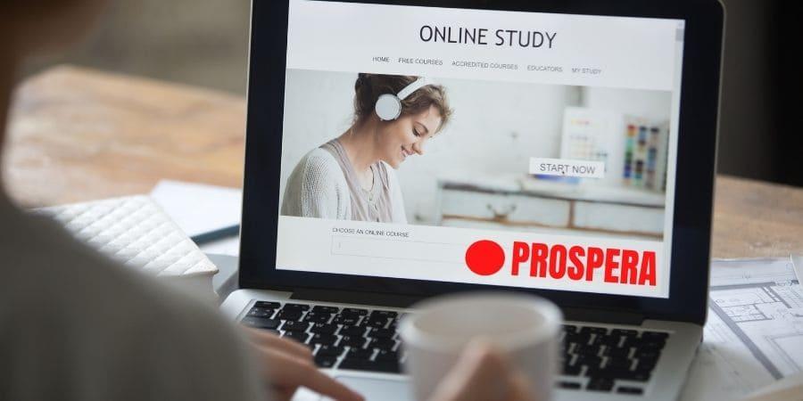 Cursos gratis online en la web de Prospera