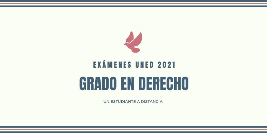 Calendario de exámenes une 2021 grado en derecho Enero-Febrero 2021